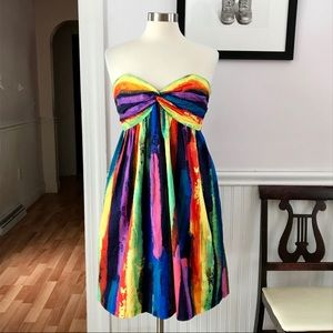 An Original Milly of New York strapless dress